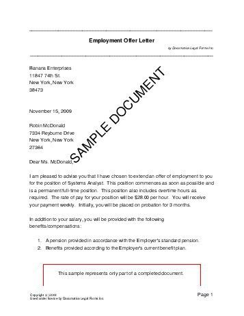 Employment Offer Letter (Brazil) - Legal Templates - Agreements ...