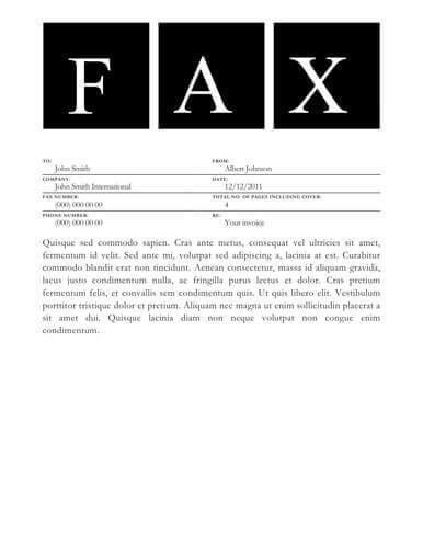 Basic Fax Cover Sheet. Confidential Fax Cover Sheet Word Format ...