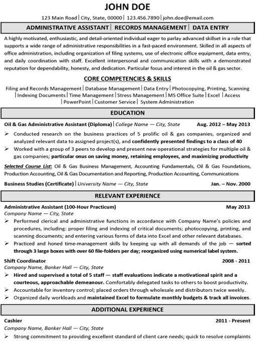 26 best Best Administration Resume Templates & Samples images on ...