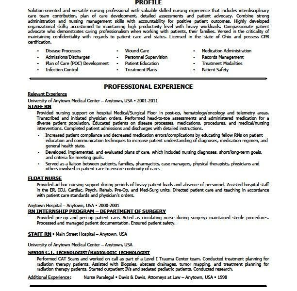 100+ [ Skills Nursing Resume ] | Nurse Resume Example Nursing Life ...