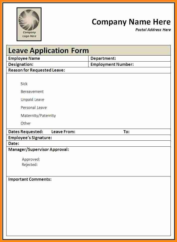 Holiday Application Form Template  Employee Contact Information