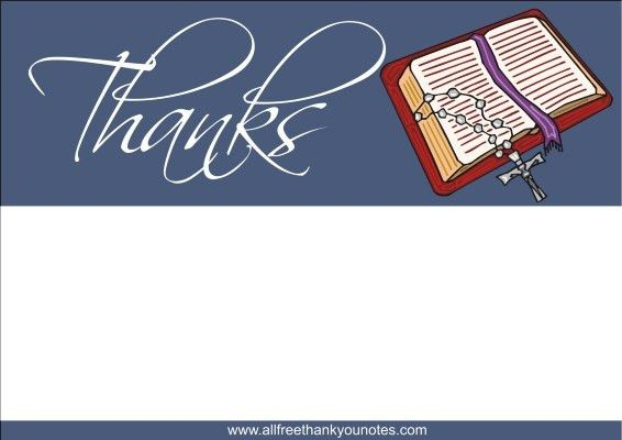 Free Religious Thank You Notes and Thank You Cards