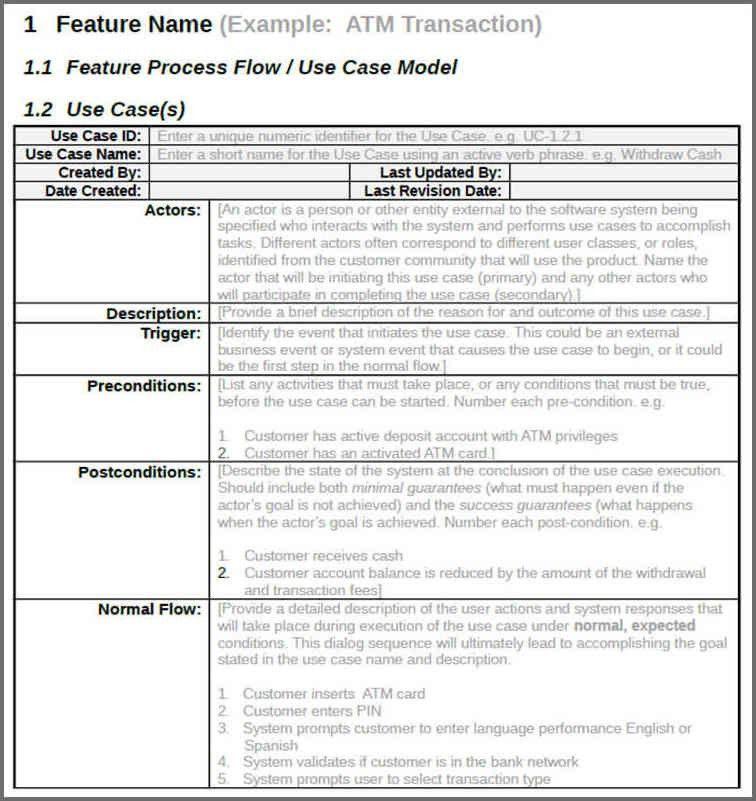 USE CASE TEMPLATE | Bidproposalform.com