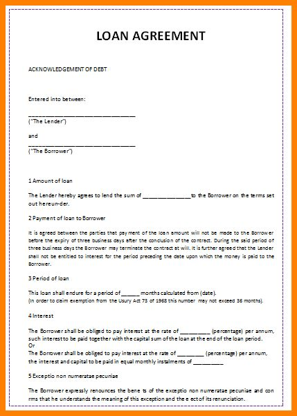 10+ loan agreement template free | barber resume