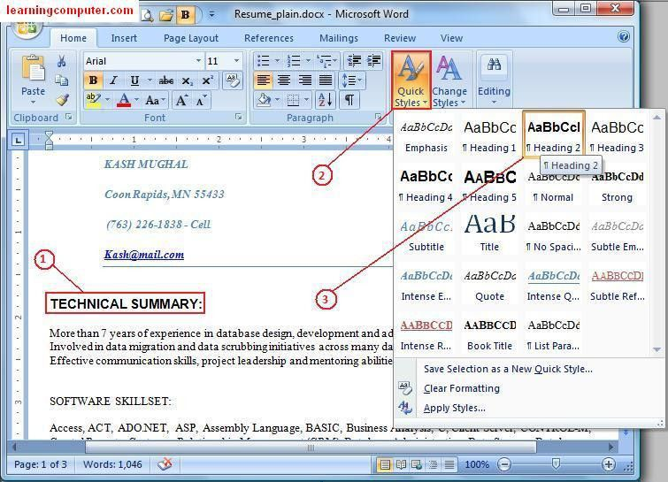 Learn Microsoft Office Word 2007 - Home Tab | IT Computer training ...