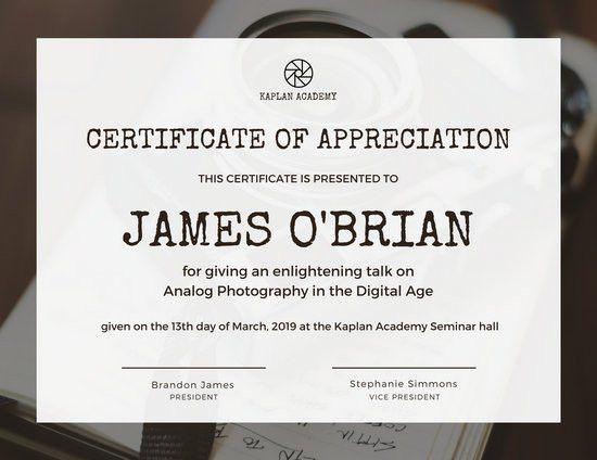 Certificate Of Appreciation. Certificate Of Appreciation - A4 ...