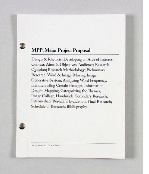 Kwong Li Portfolio - Major Project Proposal