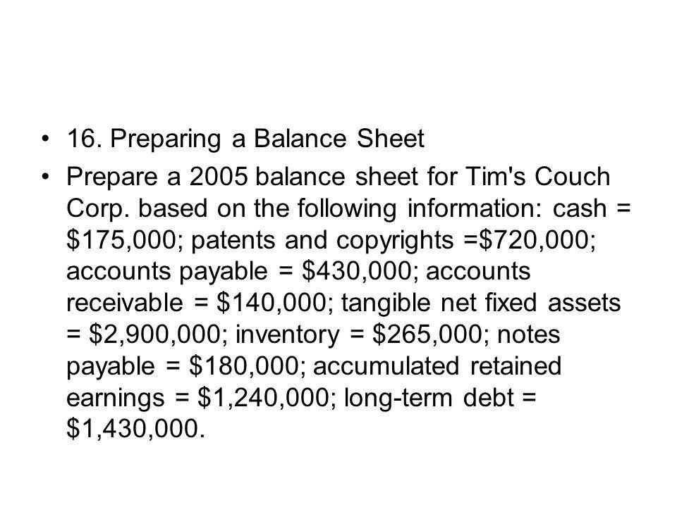 Prepare A Balance Sheet | Coverletter.csat.co