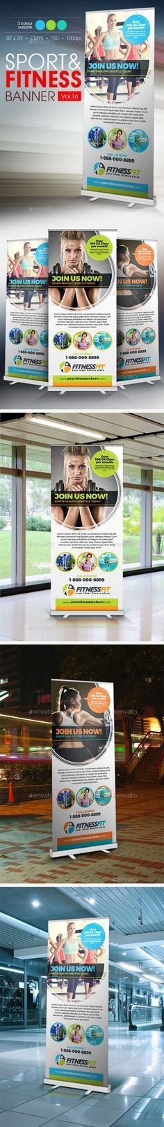 Doctor Billboard Roll-Up Template | Print templates, Signage and ...