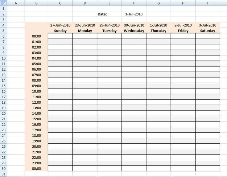 Best 25+ Weekly schedule template excel ideas on Pinterest ...