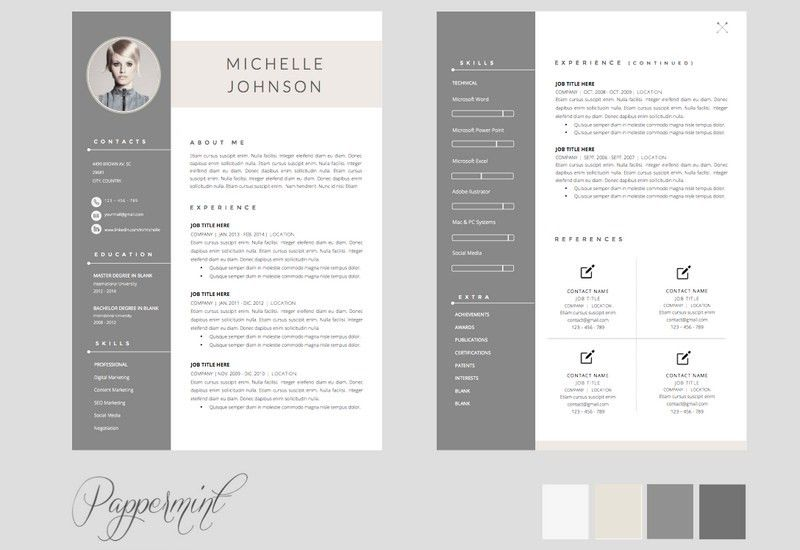 Beautiful Looking Resume Template Doc 16 The Best CV Resume ...