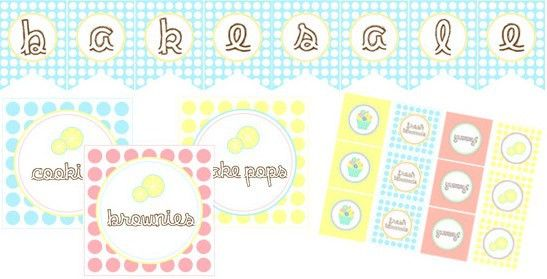 Free Printables} Lemonade Stand & Bake Sale Designs for Layla ...