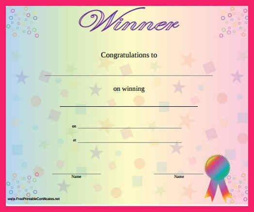 winner certificate template | bio letter format