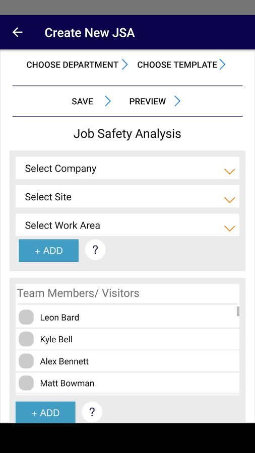 Job Safety Analysis - Android Apps on Google Play