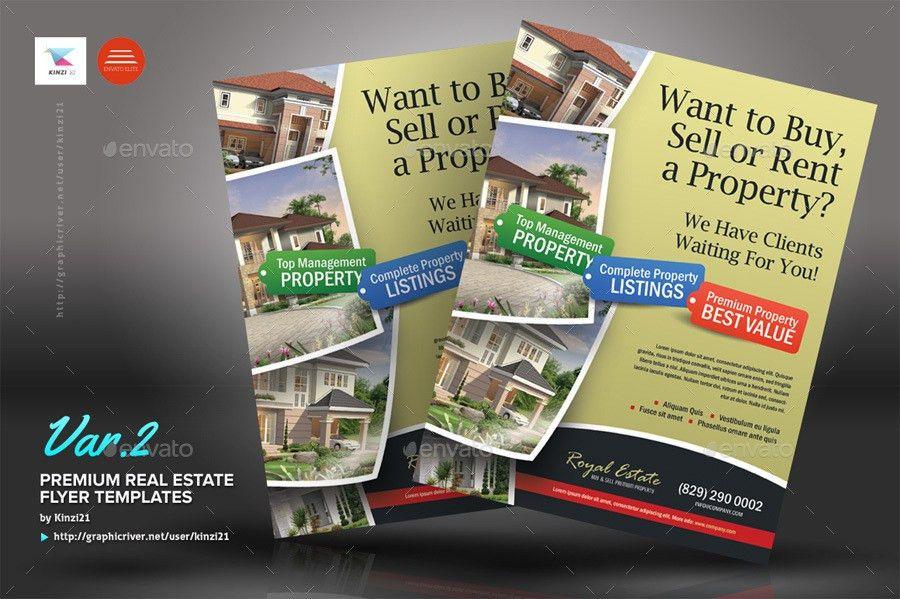 Premium Real Estate Flyers by kinzi21 | GraphicRiver