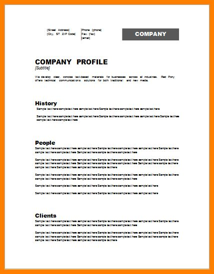 6+ company profile template | Introduction Letter