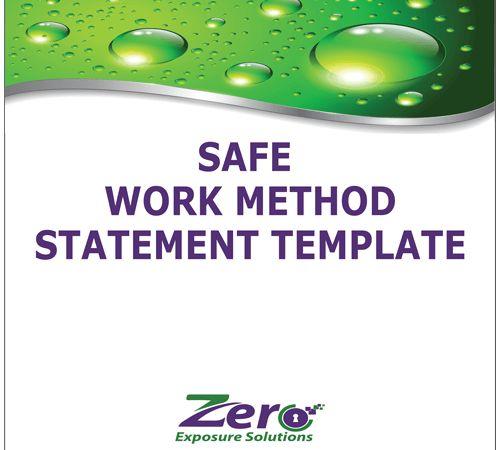 Safe Work Method Statement Template - Zero Exposure Solutions