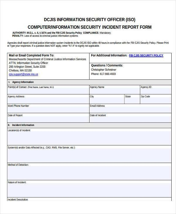 24+ Incident Report Samples | Free & Premium Templates