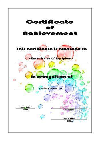 Certificate of Achievement 106