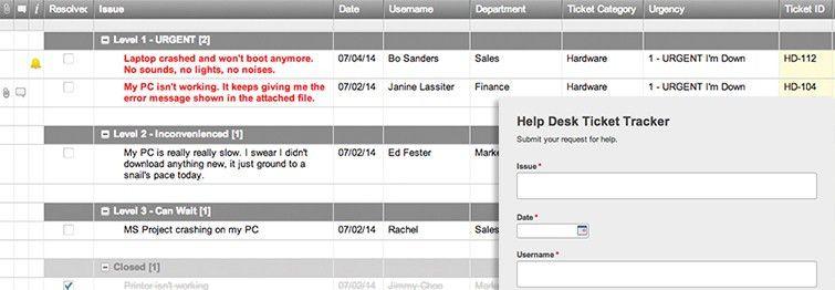 Help Desk Ticket Tracker and Form Template   Smartsheet