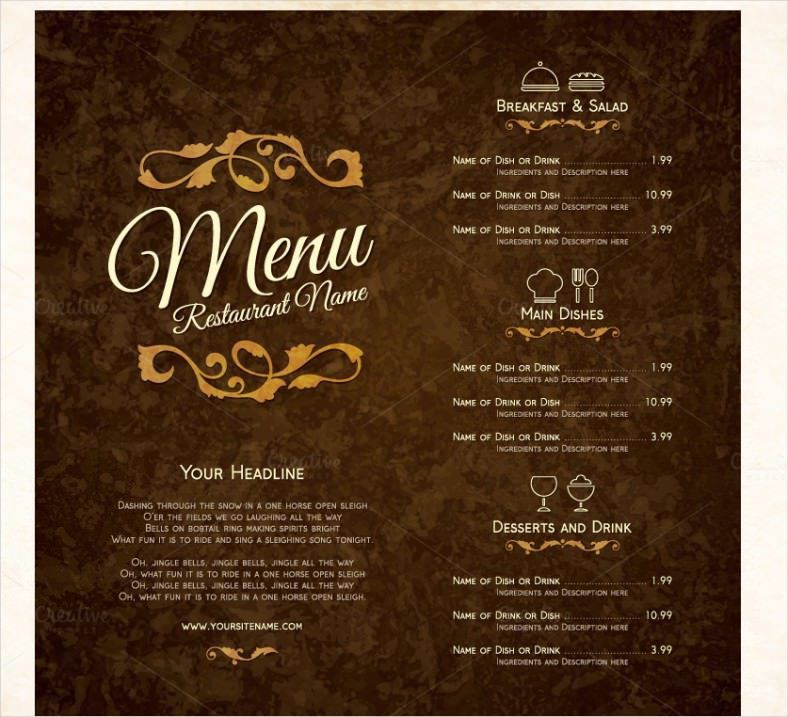Restaurant Menu Template - 44+ Free PSD, AI, Vector EPS ...