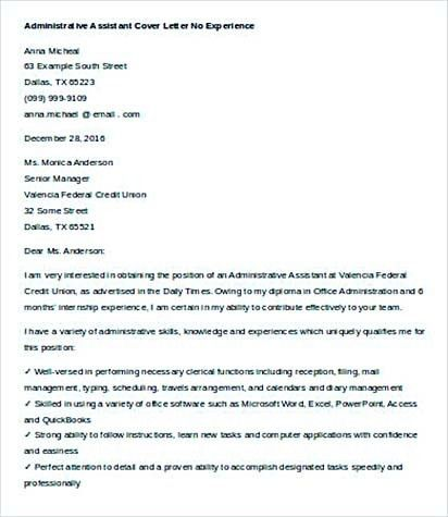 34 administrative assistant cover letter template image name34 ...