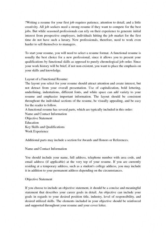 Nice How To Write First Resume | Samples Of Resumes