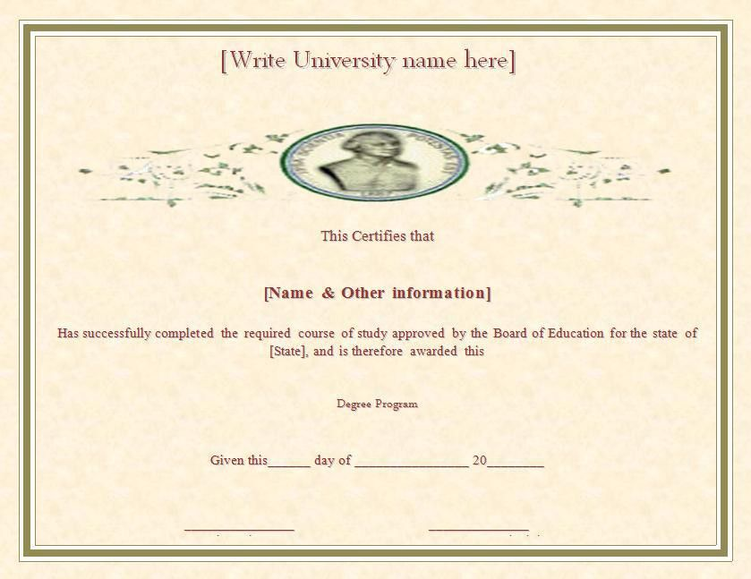 Degree Certificate Template | Free Printable Word Templates,