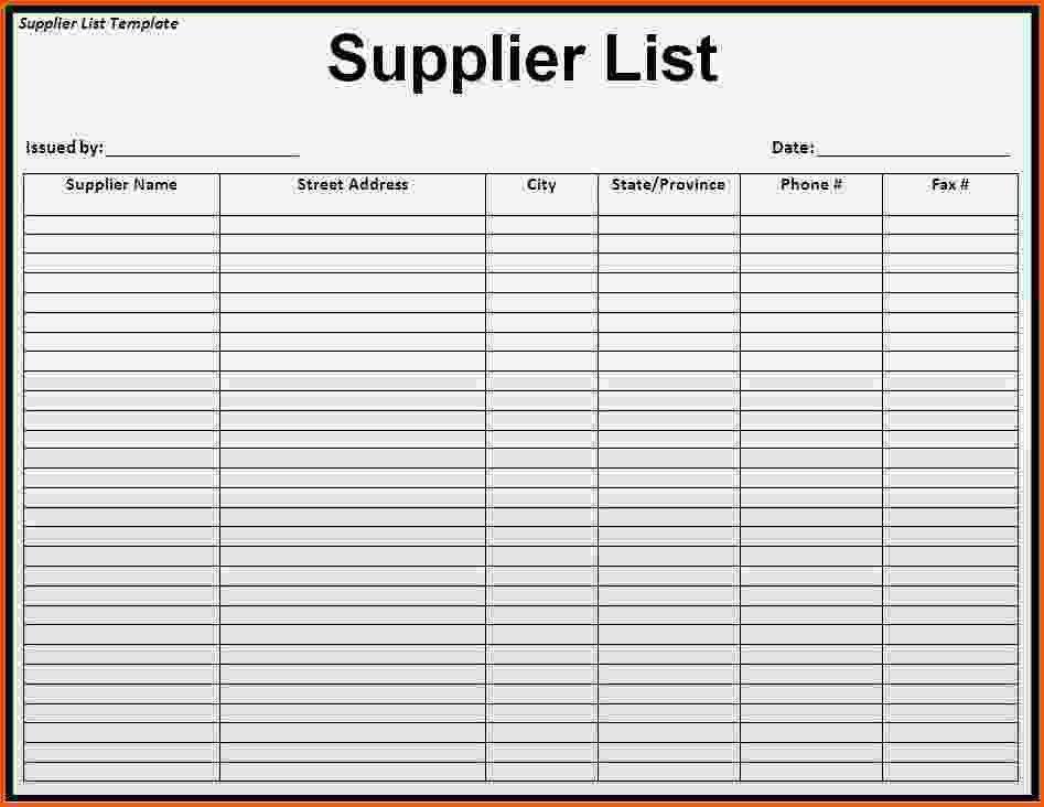Vendor List Template. Vendor Evaluation How To Analyze The Third ...