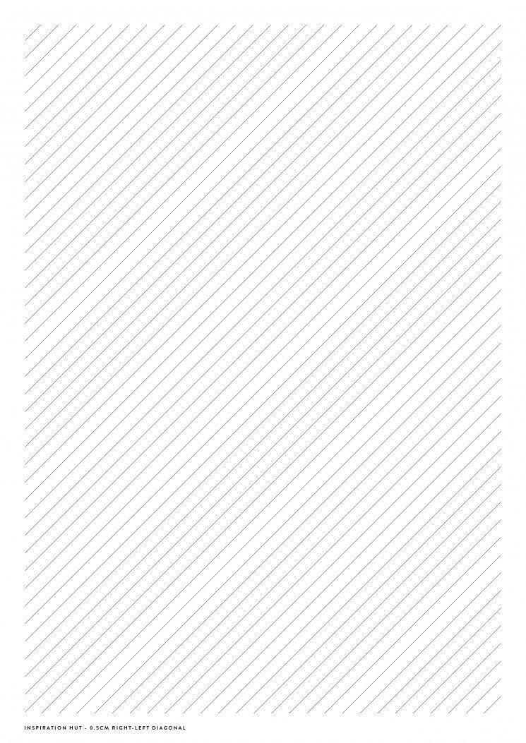 Diagonal Lined Paper Template - Inspiration Hut - Design Downloads