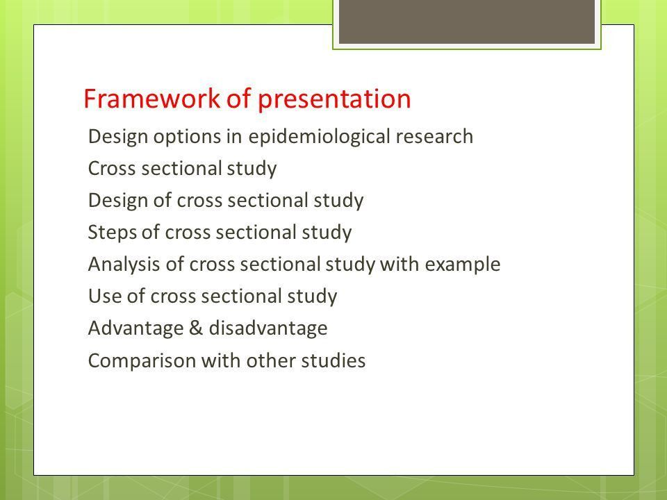 CROSS SECTIONAL STUDY. - ppt video online download