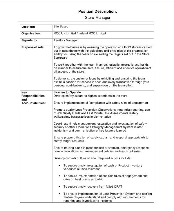 13+ Job Description Templates - Free Sample, Example, Format ...
