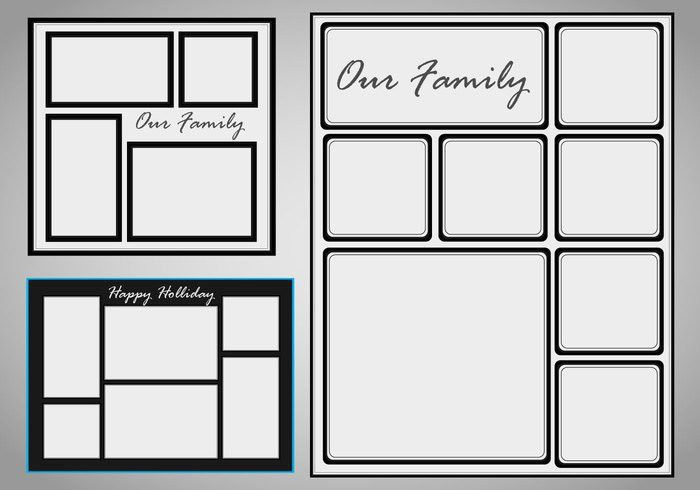 Photo Collage Template Vector set - Download Free Vector Art ...