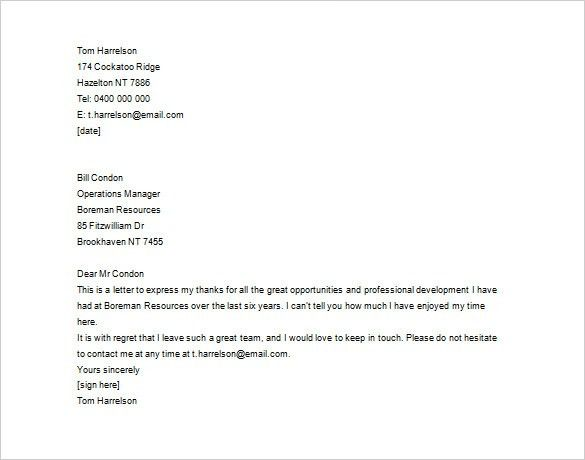 Thank You Letter To Boss For Employment - Compudocs.us