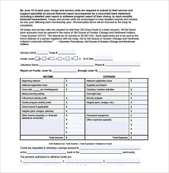 Sample Financial Report Template - 10+ Free Documents Download in ...