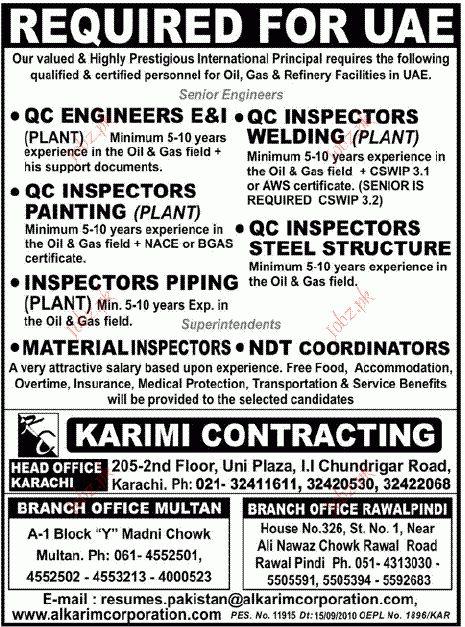 QC Engineer, QC Inspectors Painting job Opportunity 2017 Jobs ...