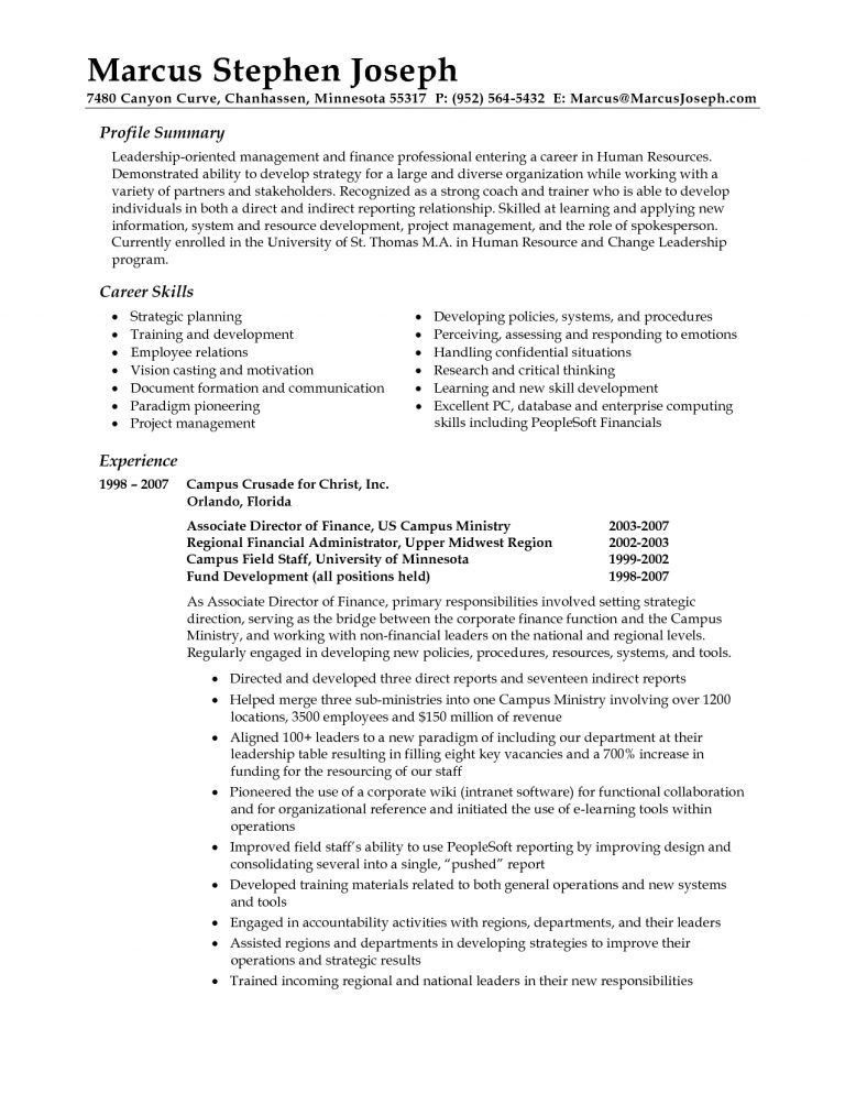 Examples Of Career Summary - cv01.billybullock.us