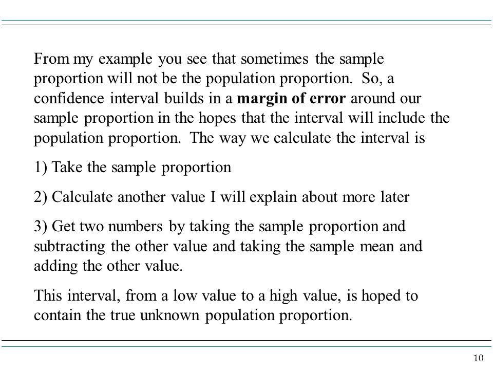 1 Confidence Interval for the Population Proportion. - ppt download