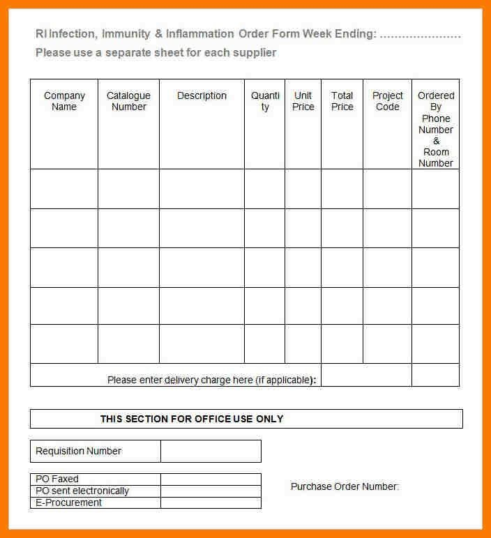 6+ blank order form template | park-attendant