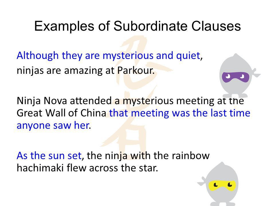 Independent vs. Subordinate Clauses - ppt download
