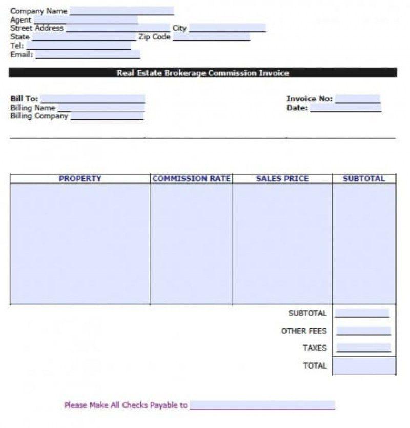 Real Estate Invoice Template | rabitah.net