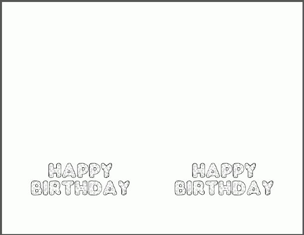 Printable Birthday Card Template – gangcraft.net