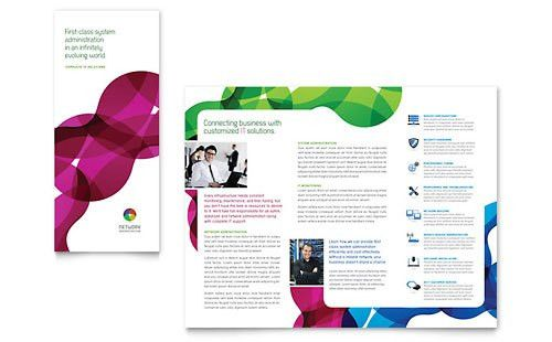 Network Administration Tri Fold Brochure Template - Word & Publisher
