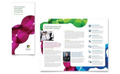 Technology - Tri Fold Brochure Templates - Word & Publisher