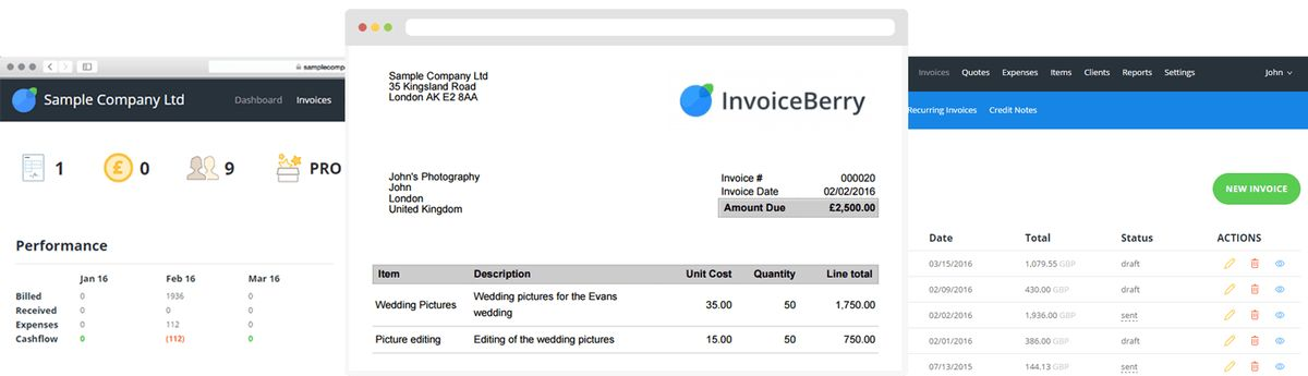 Online Invoicing Software for Small Businesses and Freelancers ...