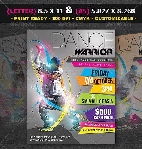 Top 10 Best Urban Dance PSD Flyer Templates