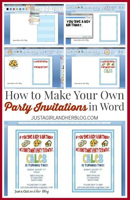 How to Make Your Own Party Invitations - Just a Girl and Her Blog