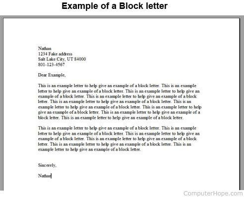 What is a Block Letter?