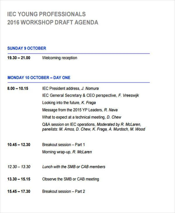 Layout Of An Agenda | Templates.csat.co