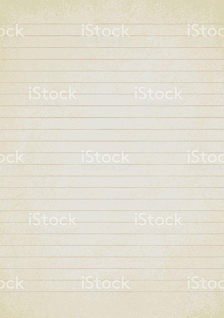 Vintage Lined Paper Sheet Vector Background 1 stock vector art ...